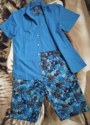 Шикарний літній бавовняний костюм чоловічий esmara