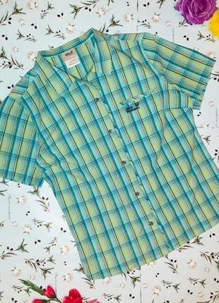 🎁1+1=3 блуза блузка рубашка в клетку jack wolfskin оригинал, размер 50 - 52