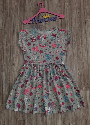 Хлопковое платье 8-10лет