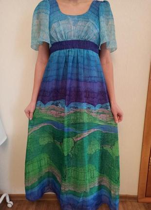 Платье с принтом картины ван гог