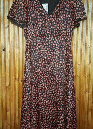 Платье миди mango в цветочки
