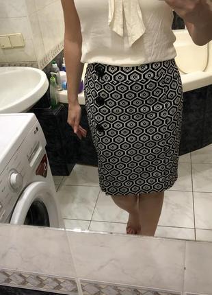 Caroline biss юбка карандаш геометрические фигуры , оригинал