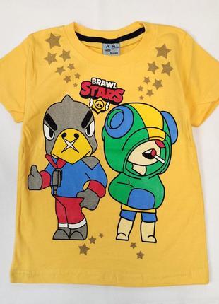 Детская футболка brawl stars 5-8 лет 4100-4