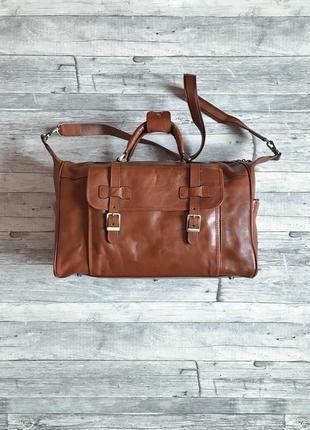 Итальянская кожаная дорожная сумка