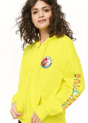 Forever 21.товар из англии.стильная неоновая куртка на флисе.