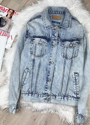Джинсовая  куртка оверсайз  pull&bear ❤️