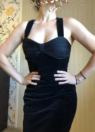 Платье футляр черное коктельное