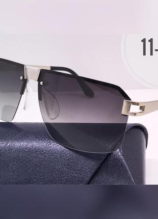 Мужские солнцезащитные очки серые с линзами polarized