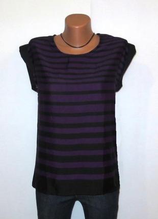 Стильная фиолетовая топ футболка от sisters point размер: 44-s, m