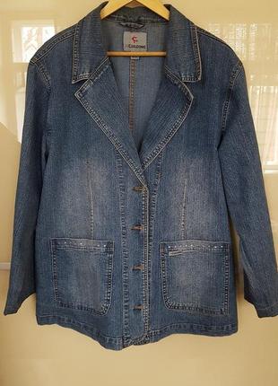 Для стильных женщин -стрейчевая джинсовая куртка-пиджак basic casual-пог63см поб65