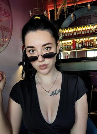 Узкие овальные очки, унисекс