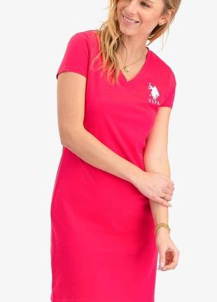Комфортное стильное платье u.s.polo assn оригинал размер м,