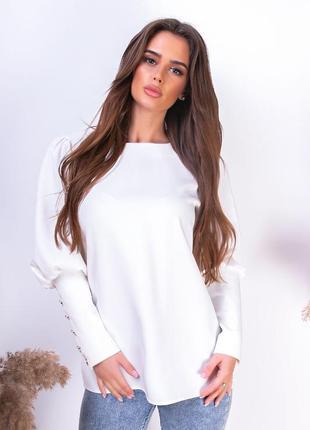 Стильная блуза длинный рукав