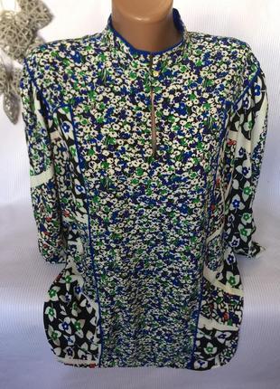 Крутая  винтажная  блуза с широкими рукавами
