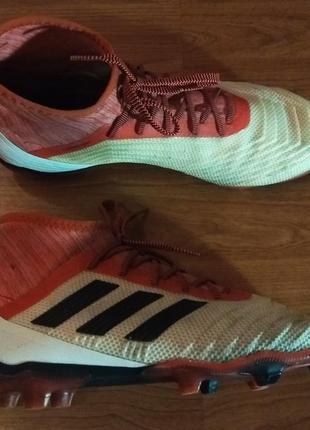 Футбольные бутсы (adidas predator 18.2 fg.)(бутсы,футбол,профи)