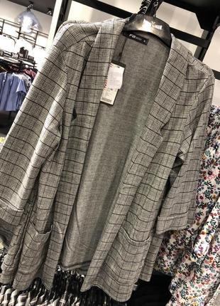 Пиджак клетчатый серый newyorker