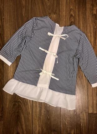 Блуза з бантиками
