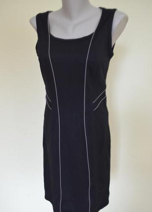 Шикарное брендовое стильное стройнящее черное платье