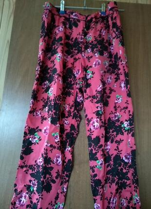 Новые штаны бриджи брюки колоты в цветы