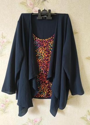 Женская блузка большого размера # блузка обманка # bonmarche