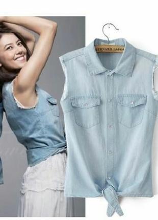 Женская джинсовая рубашка # летняя женская рубашка # denim co