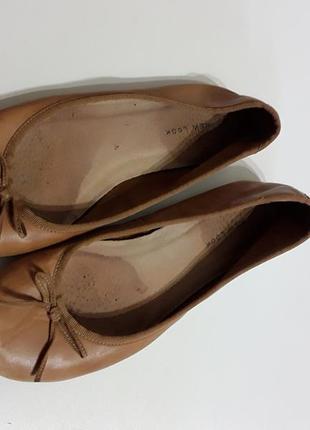 Фирменные кожаные балетки 38р.