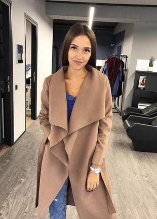 Шикарне осіннє пальто на запах