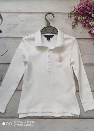 Рубашка  поло б\у ralph lauren 7 лет