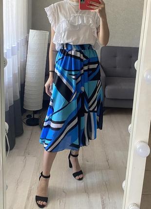 Шифоновая миди юбка на резинке