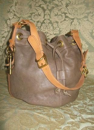 Fossil женская кожаная сумка торба баул 100% натуральная кожа