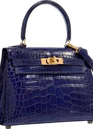 Яркая кожаная сумка с тиснением под крокодил натуральная кожа в стиле hermès kelly