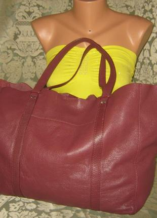 Linea weekend сумка женская шоппер большущая кожаная 100% натуральная кожа
