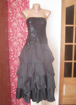 Вечірне плаття з паетками,великий розмір 16-18/44-46