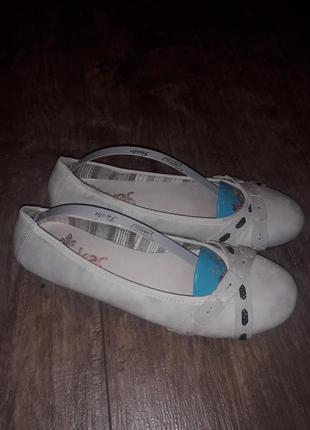 Брендовые летние туфли балетки rieker