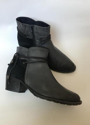 Фирменные кожаные ботинки козаки verturini 40