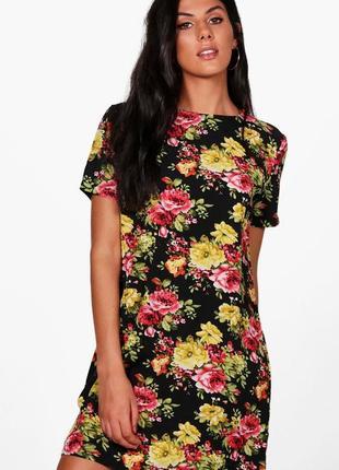 Легкое цветочное платье boohoo