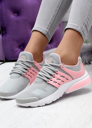 Новые шикарные женские серые кроссовки кросівки