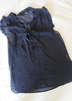 Легкая блуза в горох, р 12🌿