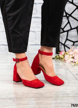 Элитные замшевые открытые туфли босоножки с квадратным носом