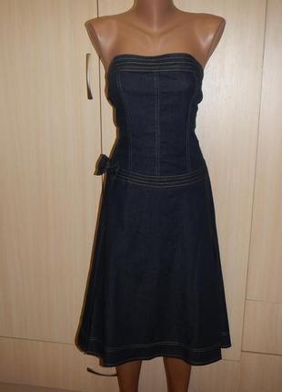 Джинсовый сарафан платье asos p.14