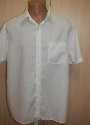 Льняная тенниска рубашка next p.xl