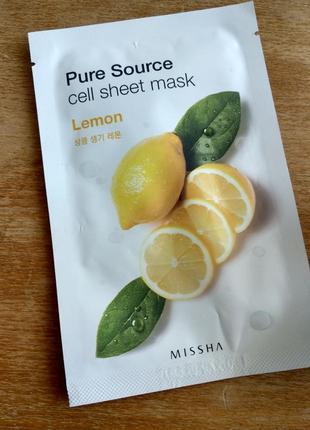 Маска лимон от missha