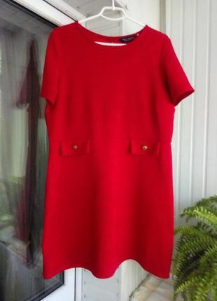 Английское красное платье большого размера батал