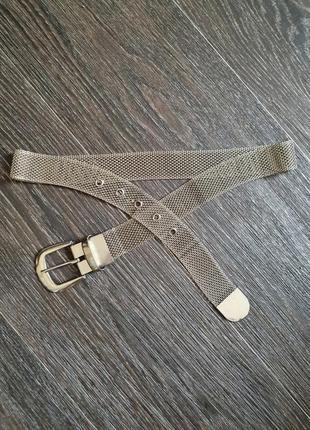 Стильный пояс на талию,  металлический, серебристого цвета