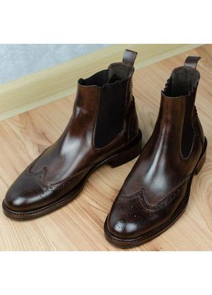 Ботинки челси кожаные calpierre италия made in italy 37,5-38р. 24,5 см.
