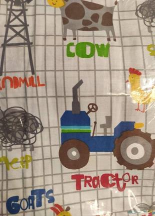 Детское постельное белье в кроватку бязь ферма