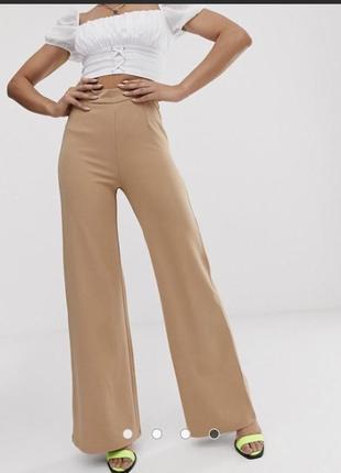 Классные брюки свободного кроя высокая талия
