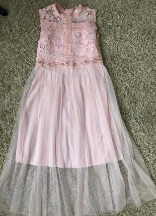 Очень нежное розовое платье