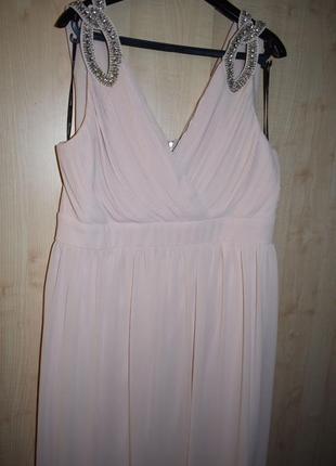 Вечернее выпускное платье в греческом стиле