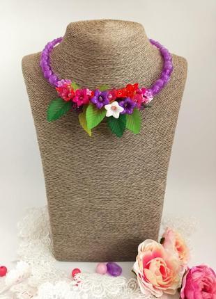 """Ожерелье и браслет для маленькой модницы """"полевые цветы"""""""